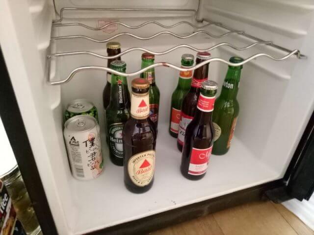 ワインセラーにビールを入れる
